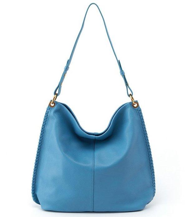 ホボ レディース ショルダーバッグ バッグ Moondance Leather Hobo Bag Dusty Blue