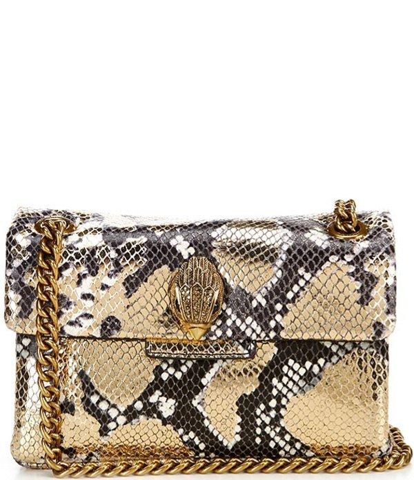 カートジェイガー レディース ショルダーバッグ バッグ Mini Snake Print Crossbody Bag Brown