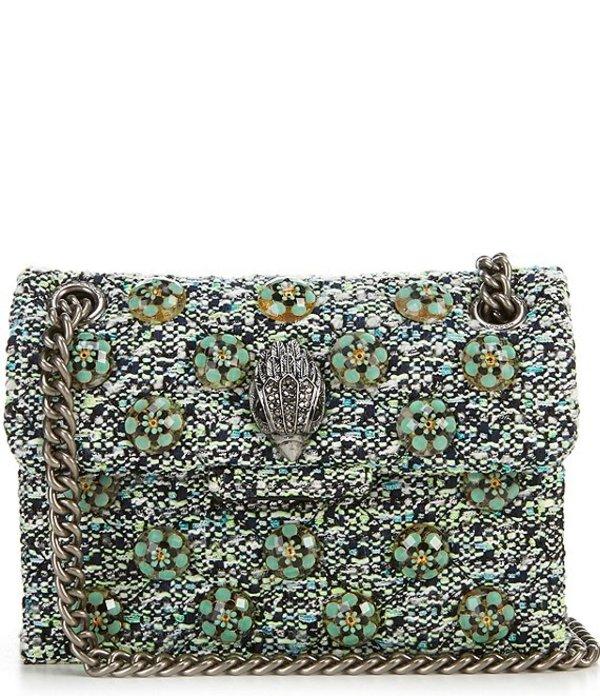 カートジェイガー レディース ショルダーバッグ バッグ Kensington Tweed Mini Crossbody Bag Green
