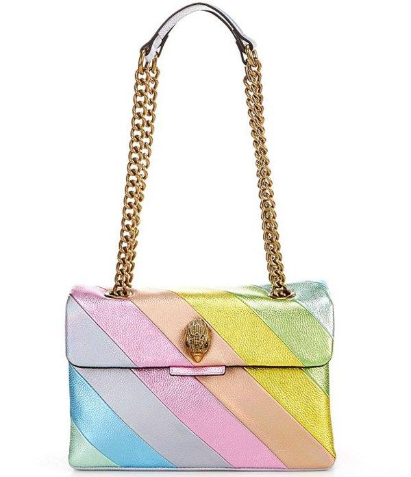 カートジェイガー レディース ショルダーバッグ バッグ Pastel Rainbow Stripe Shoulder Bag Light Pastel Blue