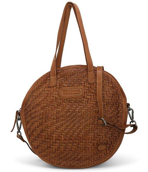 ベッドステュ レディース ショルダーバッグ バッグ Gretchen Woven Circle Crossbody Shoulder Bag Tan Dip Dye