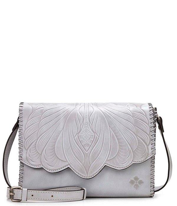 パトリシアナシュ レディース ショルダーバッグ バッグ Tooled Collection Sarola Leather Flap Shoulder Bag Grey