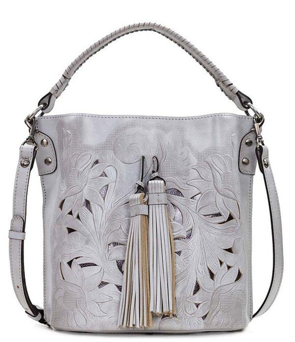 パトリシアナシュ レディース ショルダーバッグ バッグ Tooled Collection Otavia Tassel Bucket Bag Grey