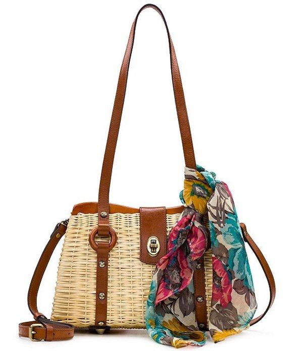 パトリシアナシュ レディース ハンドバッグ バッグ Wicker Collection Marcianise Wicker Satchel Bag Natural/Tan