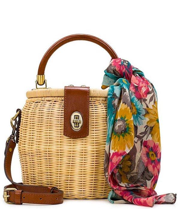 パトリシアナシュ レディース ハンドバッグ バッグ Wicker Collection Antiniana Round Wicker Crossbody Bag Natural