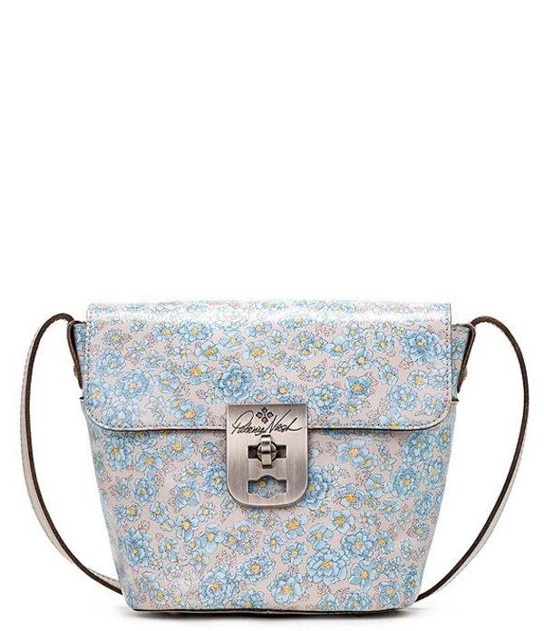 パトリシアナシュ レディース ショルダーバッグ バッグ Fleuriste Collection Cholet Leather Crossbody Bag Pastel Turqouise