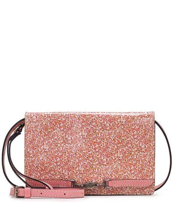 パトリシアナシュ レディース ショルダーバッグ バッグ Fleuriste Collection Aprical Leather Snap Fold Crossbody Bag Pink