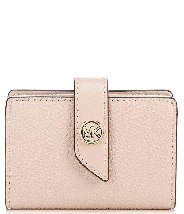 マイケルコース レディース ハンドバッグ バッグ MICHAEL Michael Kors MK Charm Small Tab Pebble Leather Card Case Soft Pink