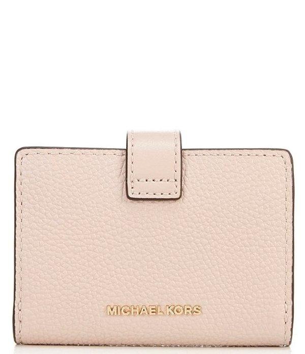 マイケルコース レディース ハンドバッグ バッグ MICHAEL Michael Kors MK Charm Small Tab Pebble Leather Card Case Soft PinkOn8Pwk0