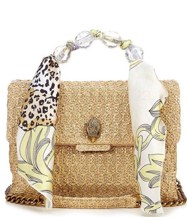 カートジェイガー レディース ショルダーバッグ バッグ Kensington Large Raffia Shoulder Bag Camel