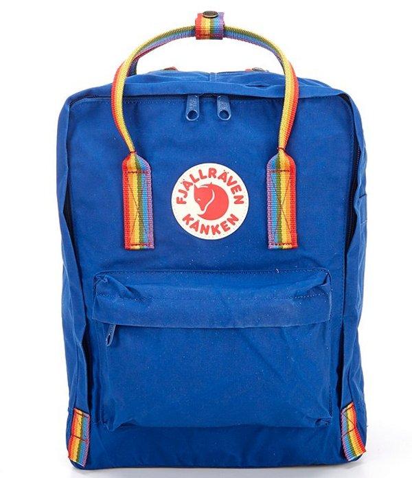 フェールラーベン レディース バックパック・リュックサック バッグ Kanken Rainbow Handle Backpack Deep Blue/Rainbow