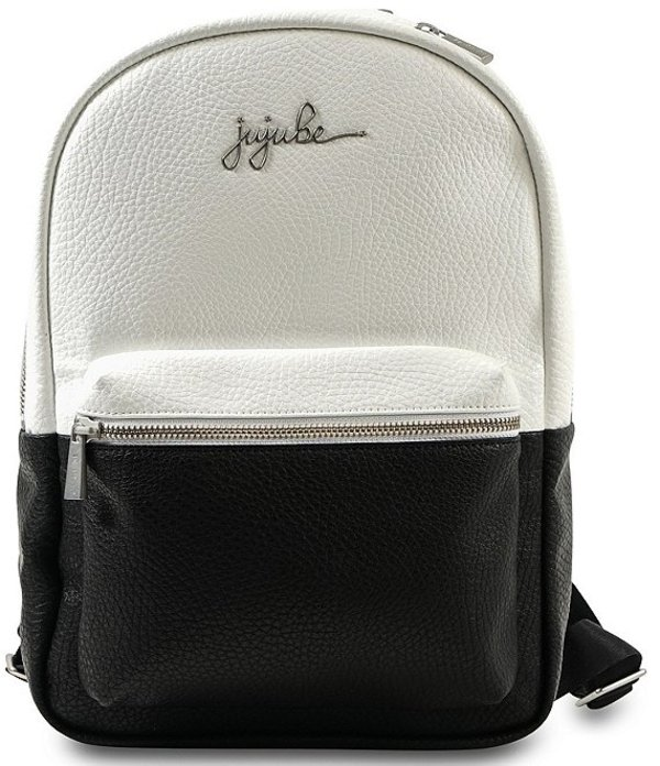 ジュジュビー レディース ハンドバッグ バッグ Ever After Mini Colorblock Pebbled Backpack Black/White