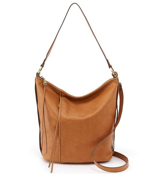 ホボ レディース ショルダーバッグ バッグ Torin Convertible Leather Zip Hobo Bag Honey