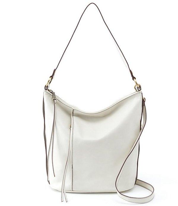 ホボ レディース ショルダーバッグ バッグ Torin Convertible Leather Zip Hobo Bag Latte
