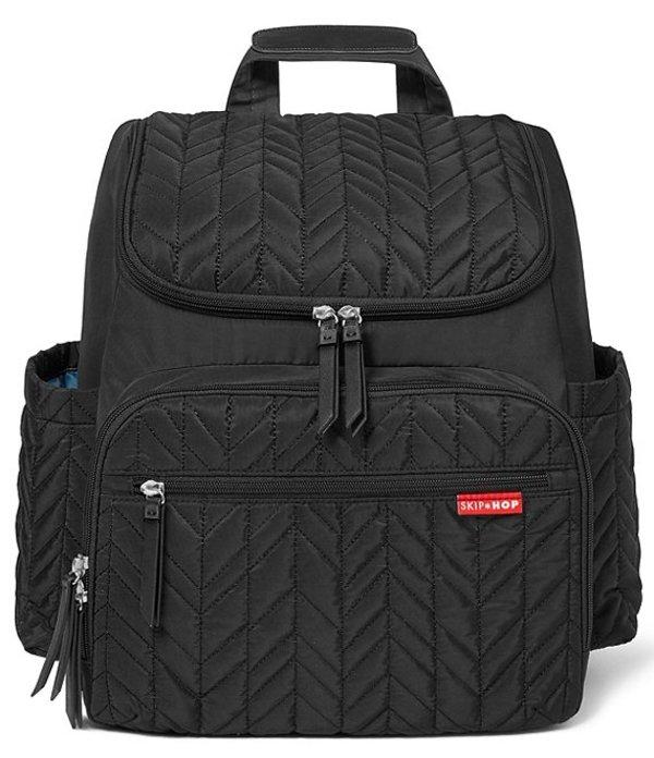 スキップホップ レディース ハンドバッグ バッグ Forma Quilted Backpack Diaper Bag Black