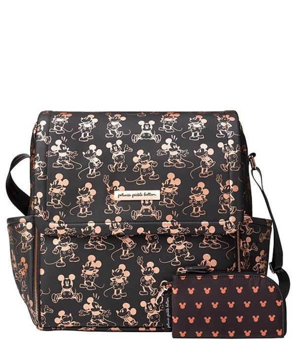 ペチュニアピックルボトム レディース ハンドバッグ バッグ Disney x Petunia Pickle Bottom Boxy Backpack Diaper Bag- Mm Mouse Black/Metallic