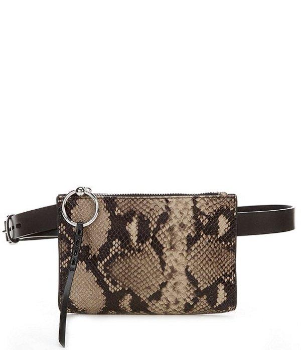 レベッカミンコフ レディース ショルダーバッグ バッグ Leather 0.75#double; Snake Belt Bag Sandrift