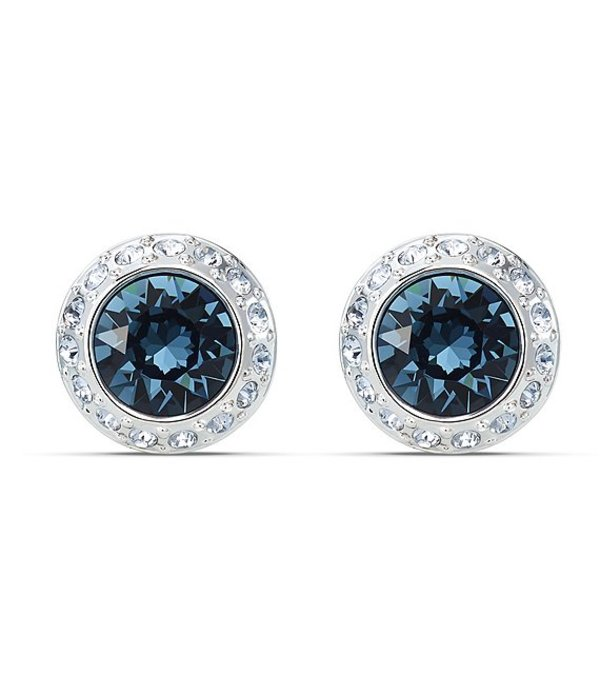 スワロフスキー レディース ピアス・イヤリング アクセサリー Angelic Crystal Stud Pierced Earrings Blue