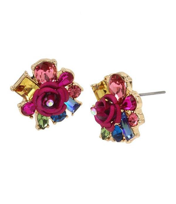 ベッツィジョンソン レディース ピアス・イヤリング アクセサリー Rose & Stone Cluster Stud Earrings Multicolor