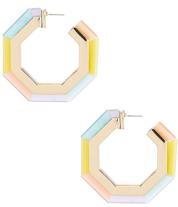 アンナ&アヴァ レディース ピアス・イヤリング アクセサリー Geo Resin Rainbow Hoop Earrings Multicolor