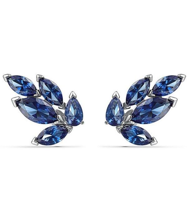 スワロフスキー レディース ピアス・イヤリング アクセサリー Louison Blue Stud Pieced Earrings Sapphire