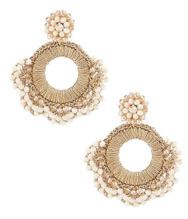 ベルバッジリーミシュカ レディース ピアス・イヤリング アクセサリー Round Thread Beaded Drop Earrings Multicolor