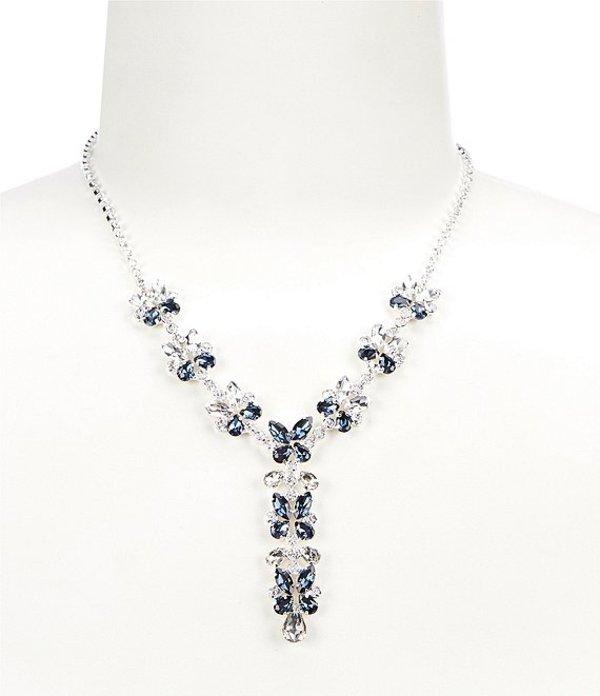 セザンヌ レディース ネックレス・チョーカー アクセサリー Butterflies Y-Necklace Silver/Blue/Crystal