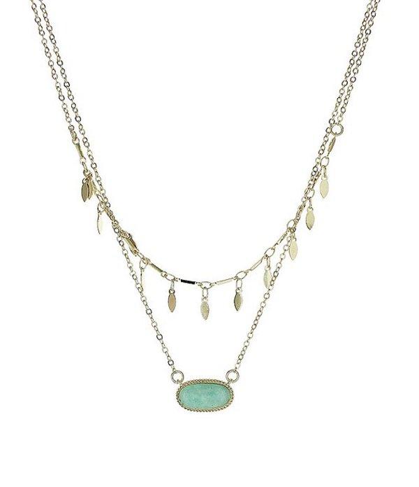 パナセラ レディース ネックレス・チョーカー アクセサリー Genuine Stone Layered Amazonite Necklace Mint