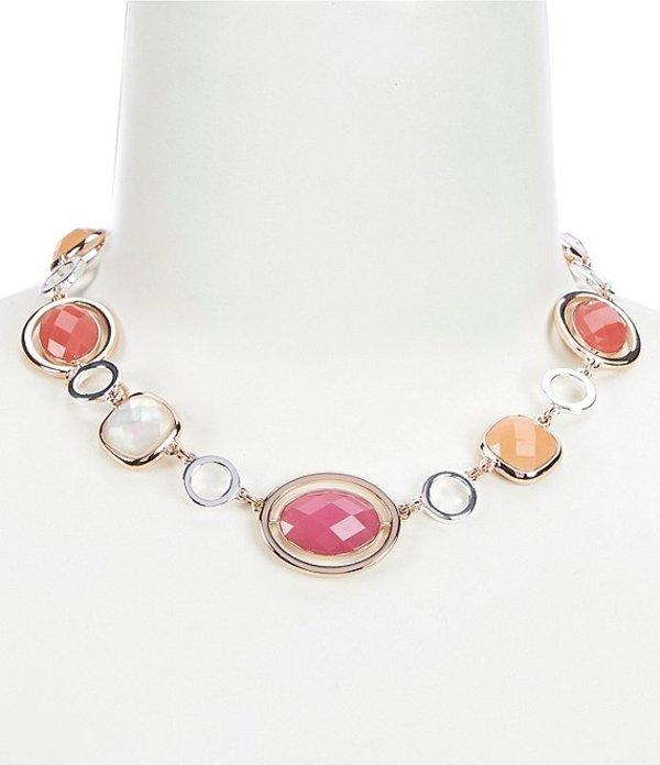 アンクライン レディース ネックレス・チョーカー アクセサリー Cushion Stone Necklace Pink