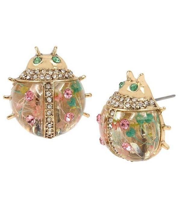 ベッツィジョンソン レディース ピアス・イヤリング アクセサリー Floral Ladybug Stud Earrings Pastel Multicolor