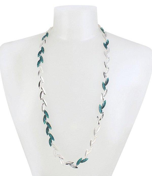 ロバート リー モーリス レディース ネックレス・チョーカー アクセサリー Patina Leaf Long Necklace Green