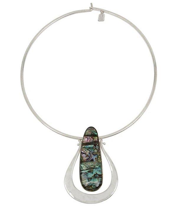ロバート リー モーリス レディース ネックレス・チョーカー アクセサリー Abalone Sculptural Pendant Round Wire Collar Necklace Abalone