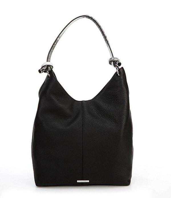 ヴィンスカムート レディース ショルダーバッグ バッグ Aubre Knot Leather Hobo Bag Nero