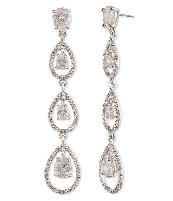 ジバンシー レディース ピアス・イヤリング アクセサリー Crystal Post Linear Earrings Rodium