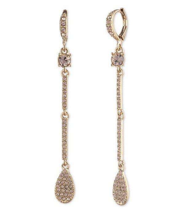 ジバンシー レディース ピアス・イヤリング アクセサリー Crystal Pave Pear Linear Earrings Gold