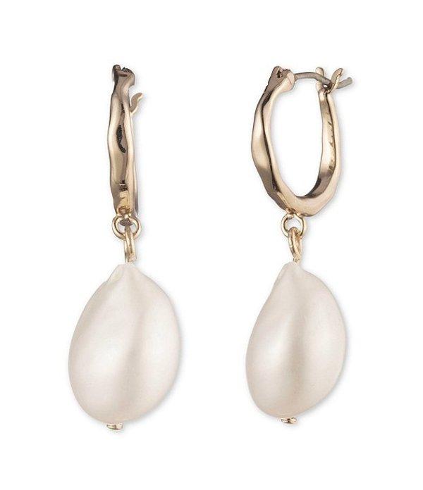 ジバンシー レディース ピアス・イヤリング アクセサリー Pearl Drop Hoop Earrings Gold