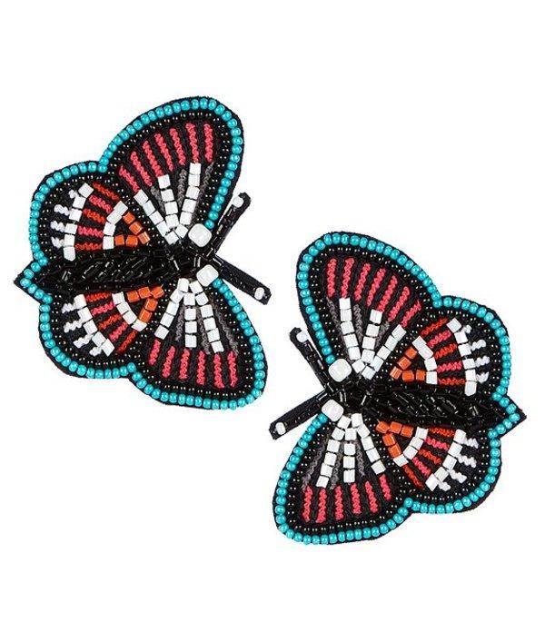 アンナ&アヴァ レディース ピアス・イヤリング アクセサリー Beaded Butterfly Statement Earrings Multicolor