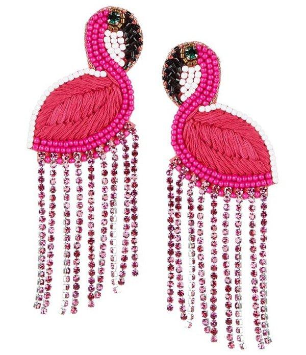 アンナ&アヴァ レディース ピアス・イヤリング アクセサリー Beaded Flamingo Statement Earrings Pink