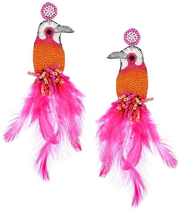 アンナ&アヴァ レディース ピアス・イヤリング アクセサリー Beaded Bird Statement Earrings Multicolor