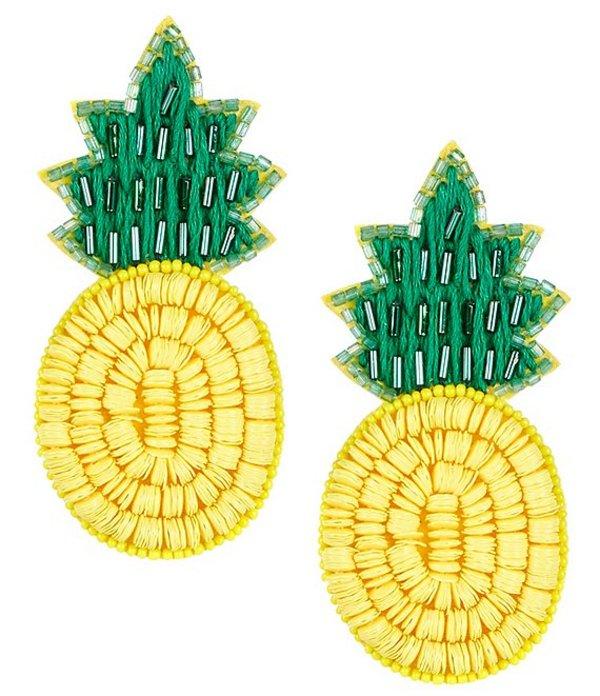 アンナ&アヴァ レディース ピアス・イヤリング アクセサリー Beaded Pineapple Statement Earrings Multicolor