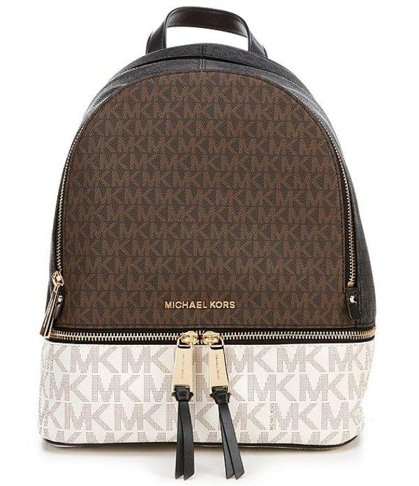 マイケルコース レディース ハンドバッグ バッグ MICHAEL Michael Kors Signature Rhea Zip Medium Backpack Brown Multi
