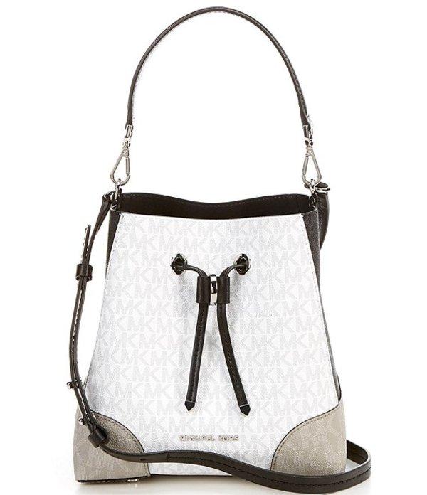 マイケルコース レディース ハンドバッグ バッグ MICHAEL Michael Kors Signature Mercer Gallery Small Colorblock Convertible Bucket Shoulder Bag Bright White Multi