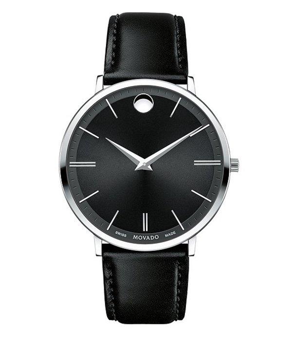 モバド メンズ 腕時計 アクセサリー Ultra Slim Stainless Steel Watch Black