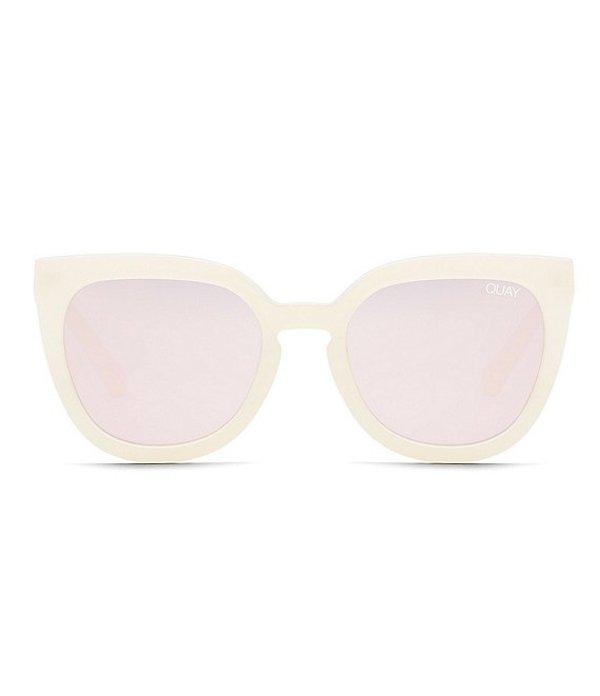 クアイオーストラリア レディース サングラス・アイウェア アクセサリー Noosa Cat Eye Sunglasses Purple Rose