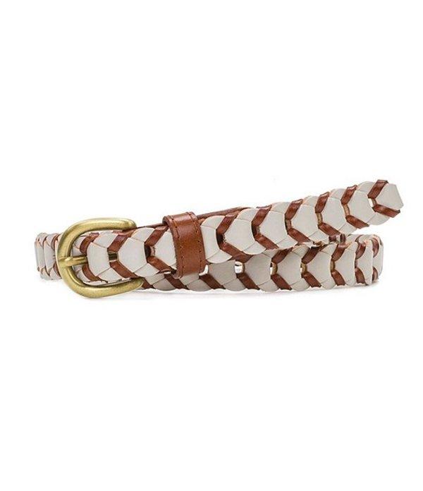 パトリシアナシュ レディース ベルト アクセサリー Chain Link Woven Belt Tan/White