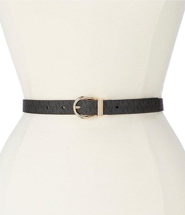 マイケルコース レディース ベルト アクセサリー MICHAEL Michael Kors 0.75#double; Reversible Logo Belt Black
