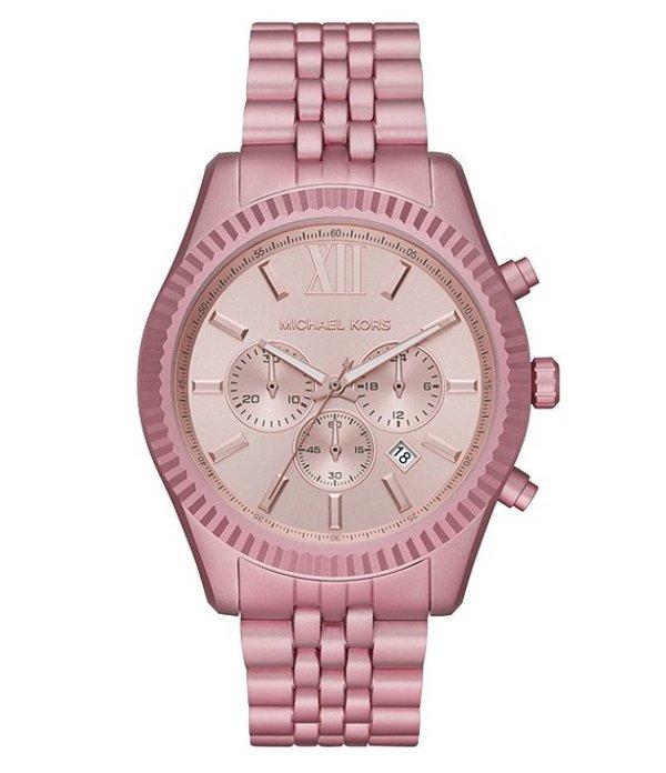 マイケルコース レディース 腕時計 アクセサリー Lexington Chronograph Pale Pink Aluminum Watch Pale Pink