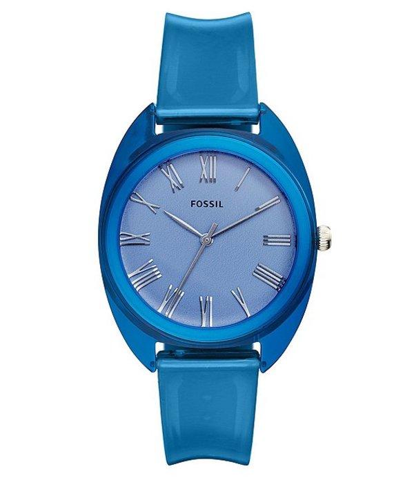 フォッシル レディース 腕時計 アクセサリー Jude Three-Hand Blue Silicone Watch Blue