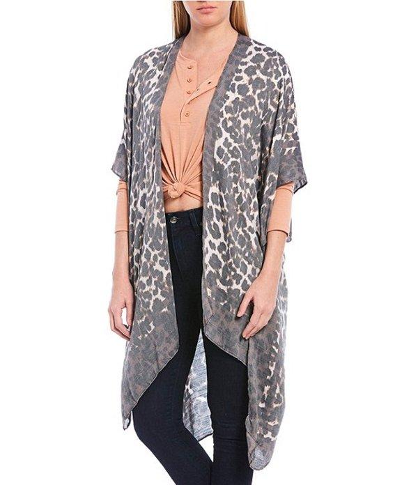 アンナ&アヴァ レディース コート アウター Leopard Kimono Leopard
