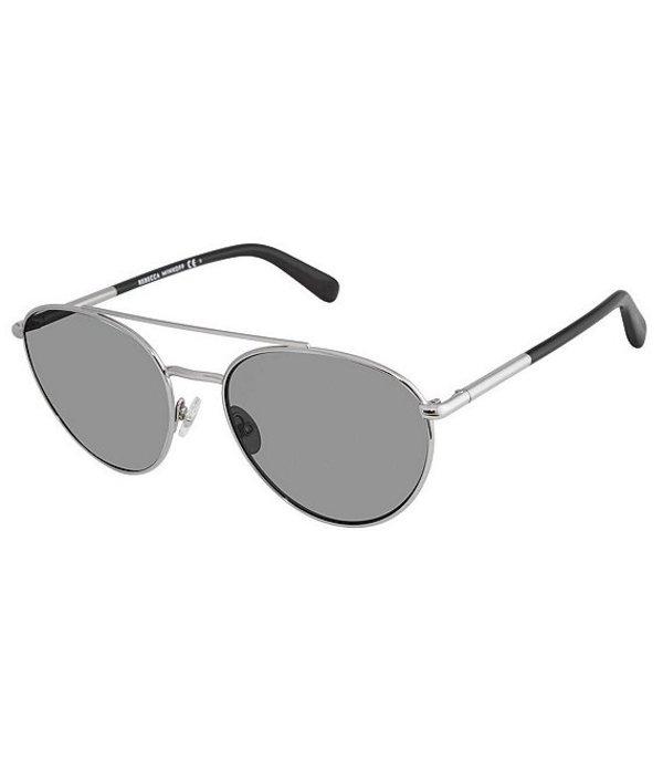 レベッカミンコフ レディース サングラス・アイウェア アクセサリー Indio Rounded Aviator Sunglasses Gunmetal